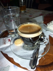und der Espresso als Abschluss bevor wir die Heimreise starten